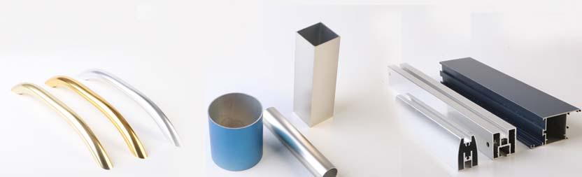 Oberflächenoptiken des eloxierten Aluminiums